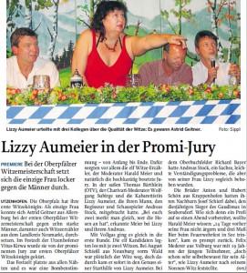 Lizzy Aumeier in der Promi-Jury